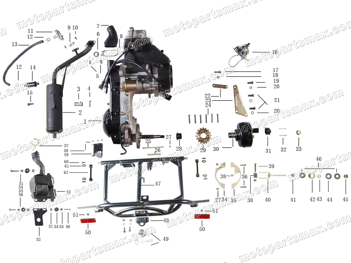 Схема двигателя скутера