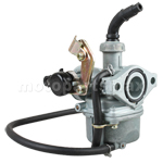 19mm Carburetor w/Cable Choke for 50-110cc 4-stroke ATVs, Dirt Bikes, Go Karts