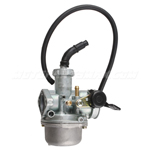 22mm Carburetor w/Hand Choke Lever for 125cc ATVs, Dirt Bikes, Go Karts