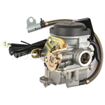 18mm Carburetor w/Electric Choke for GY6 50cc Mopeds, Scooters