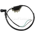2-Wire Version Ignition Coil for 4-stroke 50-125cc ATVs, Dirt Bikes & Go Karts