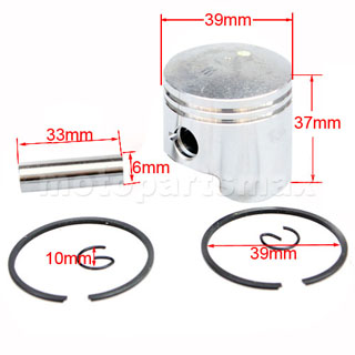 Piston Ring Pin Set Kit For 2 Stroke 47cc Engine Pocket Bike ATV