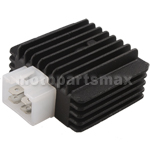 Promax 4-Pin Voltage Regulator for GY6 50cc-150cc ATVs, Scooters, Go Karts