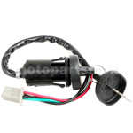 4-Wire Ignition Key Switch for ATVs, Dirt Bikes