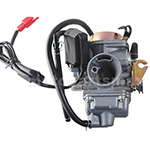 PD24 Carburetor w/Electric Choke for GY6-150cc Scooter, ATV, Go Kart