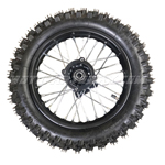 "12"" Rear Wheel Rim Tire Assembly for 70cc - 125cc Dirt Bikes"