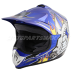PMX Youth Motocross Off-Road Helmet - Blue