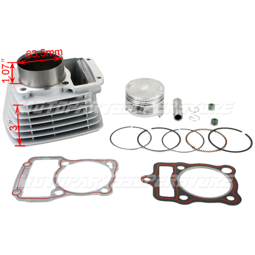 Cylinder Kit Honda 63 5mm Piston CG200 200cc Air Cooled Engine Dirt