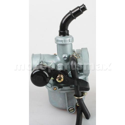 A Carburetors - 19mm Zinc Carburetor w/Hand Choke Lever for 50cc