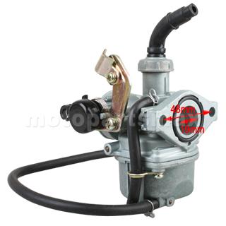 A Carburetors 19mm Carburetor W Cable Choke For 50 110cc 4 Stroke