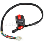 3-Function Left Switch Assembly with Choke Lever for 50cc-125cc ATVs 8-Pin
