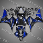 CBR600RR 07 08 Blue Flames Fairing 67N04