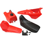 Red Plastic Fender Body Seat Tank Kit Yamaha PW80 PW 80