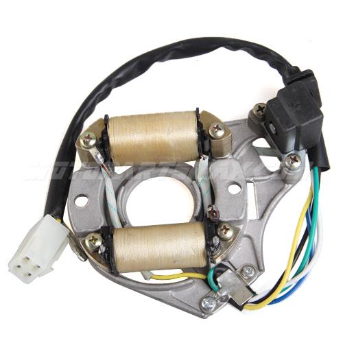 A Magneto Coil - 2-Coil Half-Wave AC Magneto Stator for 50cc