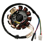 11-Coil Magneto Stator for 150cc-200cc ATVs, Go Karts, Scooter