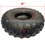 "19x7-8 8""Left Front Wheel Rim Tire Assembly for 125cc-200cc ATVs 19-7-8"