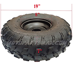 "19x7-8 8"" Right Front Wheel Rim Tire Assembly for 125cc-200cc ATVs 19-7-8"