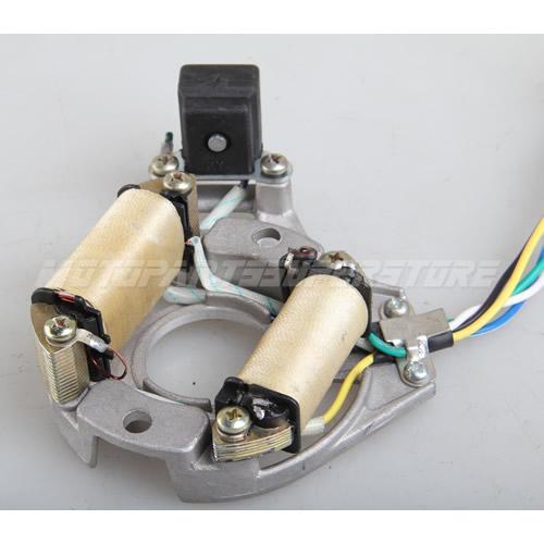 2-Coil Half-Wave AC Magneto Stator for 50cc-125cc Electric Start ATVs /& Dirt Bik