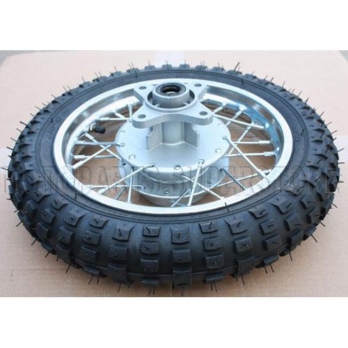 10 White Rear Rim Wheel Tire Honda XR50 CRF50 50cc 70cc 110cc Dirt